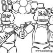 Fnaf Printable Coloring Pages Amazing Print Five Nights at Freddys Fnaf Music Band Coloring Pages