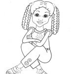 """Free Coloring Pages for Girls Marvelous Coloring Pages for African American Girls Charmz Girls """"jordan"""