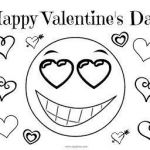 Free Emoji Coloring Pages Awesome Valentine S Day Coloring Page Happy Valentine S Day Emoji
