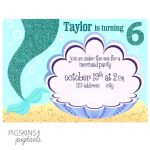 Free Little Mermaid Party Printables Excellent Little Mermaid Birthday Invitations Invitation Template Beautiful