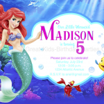 Free Little Mermaid Party Printables Exclusive Little Mermaid Birthday Invitations Free Printables 69 Images In