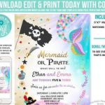 Free Little Mermaid Party Printables Exclusive Mermaid Pirate Party