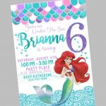 Free Little Mermaid Party Printables Inspiration 004 Free Mermaid Invitation Template Unfor Table Ideas Party