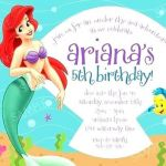 Free Little Mermaid Party Printables Inspirational Little Mermaid Birthday Invitation Party Invitations Template Free