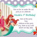Free Little Mermaid Party Printables Inspired Little Mermaid Invitation Ariel Invitation Free Thank You Card