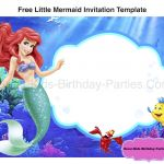 Free Little Mermaid Party Printables Inspiring Little Mermaid Birthday Invitations Free Printables 69 Images In