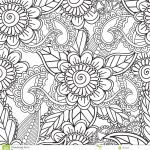 Free Mandalas to Color for Adults Brilliant Coloring Pages for Adults Seamles Henna Mehndi Doodles Abstract