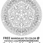Free Mandalas to Color Inspirational 59 Awesome Free Mandala Coloring Pages for Adults