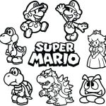 Free Mario Coloring Pages Best Mario Coloring Pages Line at Getdrawings