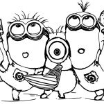 Free Minion Coloring Pages New Minion Drawing Bob at Getdrawings
