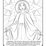 Free Mothers Day Coloring Sheets Unique Coloring Religion Coloring Pages Mary Page with the Hail Prayer