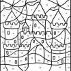 Free Online Color by Number New Sand Castle Coloring by Numbers Games the Sun