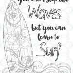 Free Online Coloring for Adults Best Adult Inspirational Coloring Page Printable 03 Learn to Surf