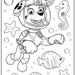 Free Paw Patrol Coloring Pages Brilliant Marshall Underwater Paw Patrol Coloring Page Coloring Pages