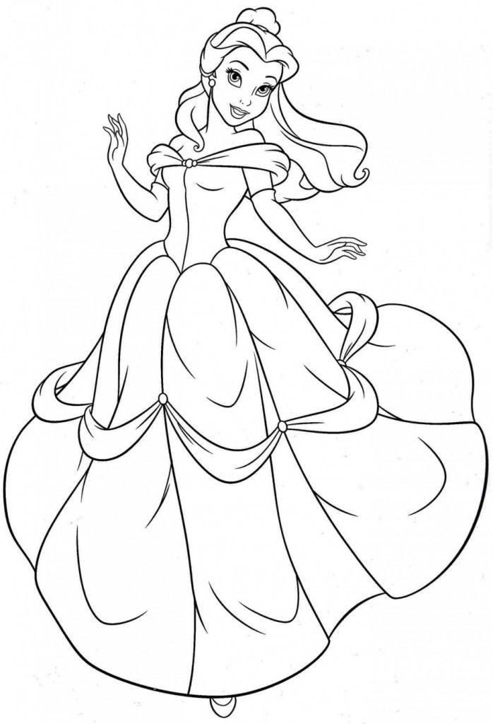 Free Princess Coloring Pages Inspiration Free Printable Belle Coloring Pages for Kids