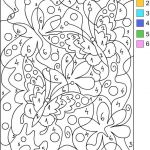Free Printable Color by Number Pages for Adults Best Coloring Pages Cool Designs Color by Number