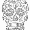 Free Printable Day Of the Dead Coloring Pages Inspirational Luxury Day Dead Skull Coloring Pages – Kursknews