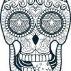 Free Printable Day Of the Dead Coloring Pages Pretty the Best Free Sugar Skull Clipart Images Download From 1388 Free