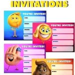 Free Printable Emoji Faces Creative Free Emoji Pool Party Invitations Free Printable Emoji Movie Party