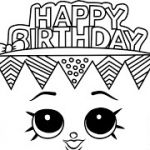 Free Printable Happy Birthday Coloring Pages Inspiration Happy Birthday Shopkins Coloring Pages