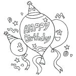 Free Printable Happy Birthday Coloring Pages Pretty Happy Birthday Teacher Coloring Pages at Getdrawings