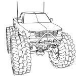 Free Printable Monster Truck Coloring Pages Unique Coloring Monster Truck Coloring Dodge Page Printable for Kids