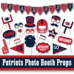 Free Printable New England Patriots Logo Wonderful New England Patriots Football Booth Props and Party