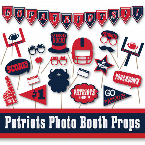 New England Patriots Football Booth Props and Party