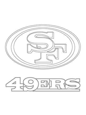 Free Printable Nfl Logos Inspiring San Francisco 49ers Logo Coloring Page From Nfl Category Select