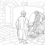Free Printable Pictures Of Jesus Inspirational Jesus Healing Peter S Mother In Law Coloring Page