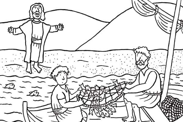 Fresh Jesus and Disciples Coloring Sheets – Howtobeaweso