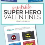 Free Printable Superman Logo Inspirational Free Printable Super Hero Valentines Cards A Few Shortcuts