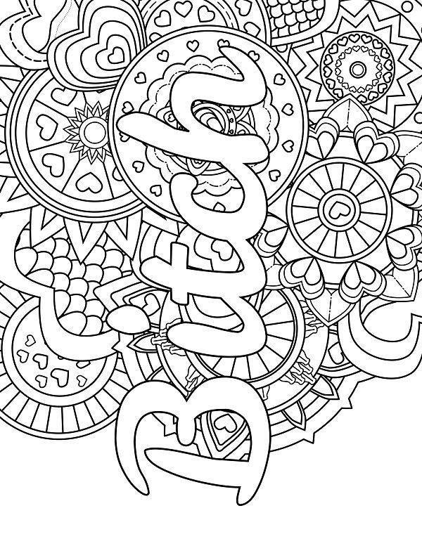 55 Best Images Of Free Printable Swear Word Coloring Pages