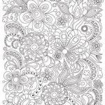 Free Printable Zentangle Coloring Pages Fresh Adult Coloring Page Doodle Flowers Zentangle by Zentanglehouse