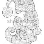 Free Printable Zentangle Coloring Pages Unique Christmas Zentangle Santa Claus for Adult Vector Image Adult