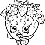 Free Shopkins Coloring Pages New Strawberry Kiss Shopkin Coloring Page