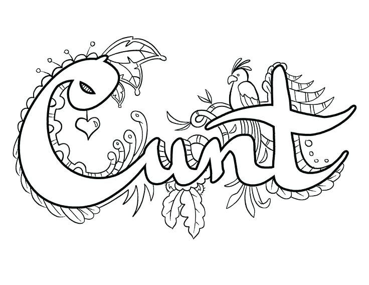 Free Swear Word Coloring Pages Brilliant Swearing Coloring Pages at Getdrawings