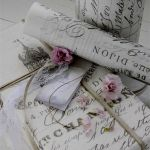 French Script Wrapping Paper Beautiful I Have Seen Loads Of Wallpaper Like This for About A Tenner A Roll