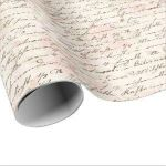French Script Wrapping Paper Beautiful Vintage Wrapping Paper – Wrapping Paper