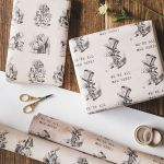 French Script Wrapping Paper Beautiful Wrapping Paper