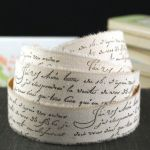 French Script Wrapping Paper Excellent Peel & Stick 2 Yards Stamped French Script Words Muslin Fabric