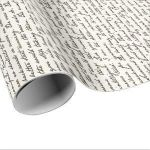 French Script Wrapping Paper Exclusive Vintage Wrapping Paper – Wrapping Paper