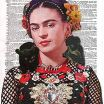 Frida Kahlo Coloring Book Elegant Amazon Art N Wordz Frida Kahlo original Dictionary Sheet Pop