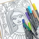 Frida Kahlo Coloring Book Inspirational the Crafty Chica