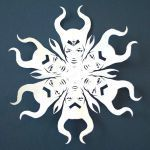 Frozen Snowflake Stencil Awesome Maleficent Paper Snowflake Template Cool Templates Easy Cutout Pop