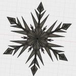 Frozen Snowflake Stencil Best Of Snowflake by Abuzzdesigns Thingiverse