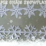 Frozen Snowflake Stencil New Happy New Year Poster Flyer Template Lights Garland Snowflakes