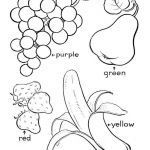 Fruit Coloring Book Brilliant Fruit Coloring Pages Best Basket Full Fresh Apple Fruits Free