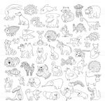 Full Size Coloring Pages for Adults Creative Coloring Funny forest Animal Coloring Pages for Kids with Big