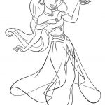 Genie Coloring Page Inspiration Luxury Aladdin and Jasmine Coloring Pages – Dazhou